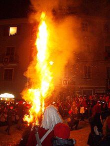 Cerimonia dell'Abbruciamento degli Scarli in 2008