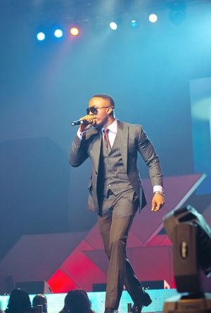 Afrobeat - Iyanya during a performance
