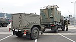 JGSDF Type 73 chugata truck(08-0080) with JS-P5 shelter & JK-2 power supply trailer(78-5031) of JTPS-P9 radar unit(driving mode) right rear view at JMSDF Maizuru Naval Base July 29, 2017 02.jpg