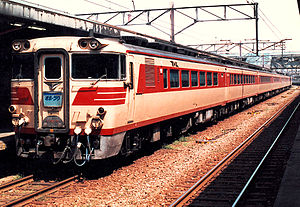 Okhotsk (train) - Image: JNR Kiha 80 Okhotsk