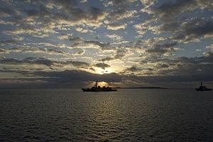 JS Sazanami off the coast of Okinawa, -7 Dec. 2009 a.jpg
