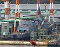 JS Teruzuki (DD-116) under construction at Mitsubishi Nagasaki Shipyard, cropped.jpg