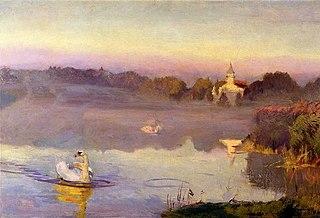 Pond in Radziejowice.