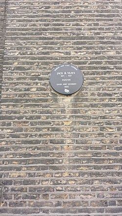 Photo of Jack Butler Yeats brown plaque