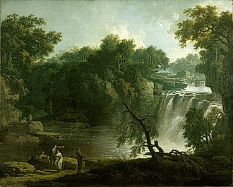 Romanticism in Scotland - Jacob More's The Falls of Clyde: Corra Linn, c. 1771