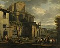 Jacob van Huchtenburgh - Szene vor einer römischen Ruine - 14197 - Bavarian State Painting Collections.jpg