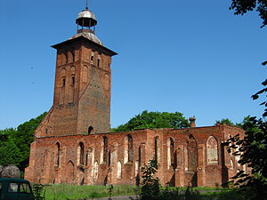 Znamensk, Kaliningrad Oblast - Ruins of St. Jacob's church are one of very few historic landmarks still visible in modern Znamensk