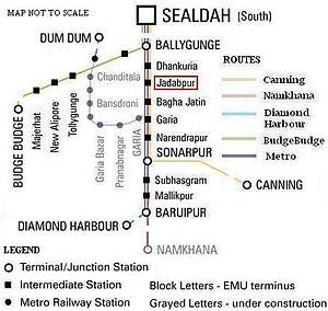 Jadavpur - Railway connectivity of Jadavpur area