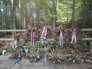 Mass graves in Slovenia - Memorial at the Kren Cave Mass Grave.