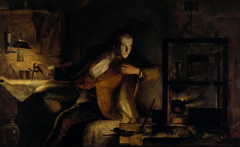 James Watt y la máquina de vapor: el amanecer del siglo XIX (1855).