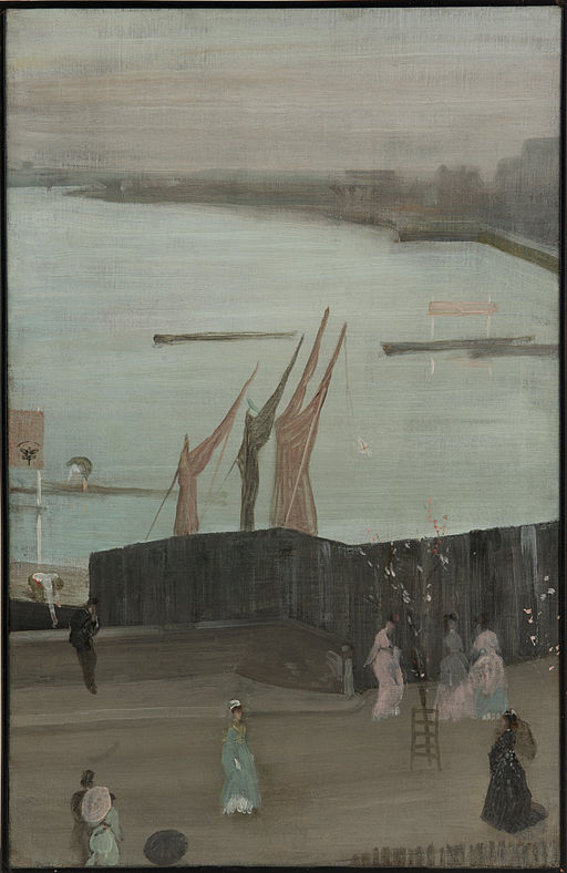 James McNeill Whistler - Variations in Pink and Grey- Chelsea