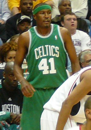 James Posey - Posey in Game 4 of the 2008 NBA Playoffs against the Atlanta Hawks as a member of the Boston Celtics