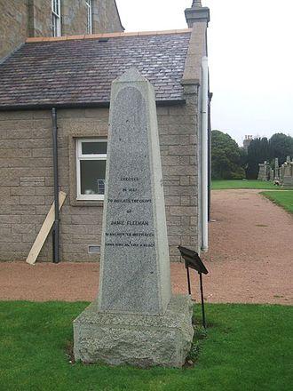 Longside - Jamie Fleeman's grave, Longside