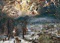 Jan Brueghel the Elder and Hans Rottenhammer - Winter landscape with a glory of angels.jpg
