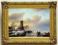Jan Jacob Spohler (1811-1866), Winterlandschap, Olieverf op doek photo2.JPG