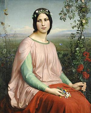 Lyon School - Fleur des champs (1845)  Louis Janmot