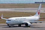 Japan Air Lines ,JL897 ,Boeing 737-846 ,JA315J ,Departed to Shanghai ,Kansai Airport (16809159811).jpg