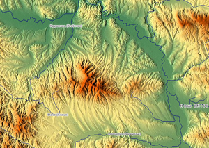 Jastrebac - Relief map of Jastrebac