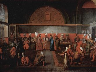 Imperial Council (Ottoman Empire) - Reception of the French ambassador by the Grand Vizier and the Imperial Council in 1724