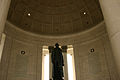 Jefferson Memorial with statue at rotunda 2006.jpg