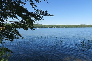 Jenness Pond Lake in Rockingham County, New Hampshire