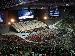 Philippine Arena - An Iglesia ni Cristo event being held at the arena.