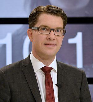 Swedish general election, 2014 - Image: Jimmie Åkesson inför slutdebatten
