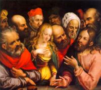 Jobst Harrich, Christus und die Ehebrecherin.png