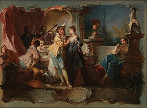 Johann Wolfgang Baumgartner -  The Prodigal Son Living with Harlots by Johann Wolfgang Baumgartner