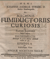 Johannes Andreas Stisser Machinis Fumiductoriis curiosis Titel.png