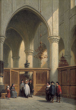 Johannes Bosboom Church interior with baptism.jpg