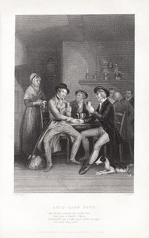 Auld Lang Syne - Image: John Masey Wright John Rogers Robert Burns Auld Lang Syne
