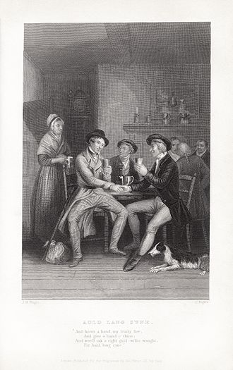 Hogmanay - John Masey Wright and John Rogers' c. 1841 illustration of Auld Lang Syne.