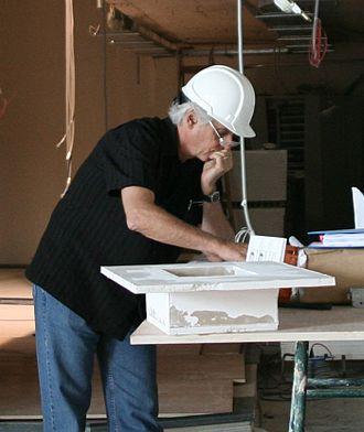John Storyk - John Storyk at WSDG Construction Site