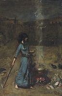 John William Waterhouse - The Magic Circle (study).jpg