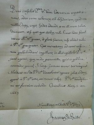 John de Britto - Letter of John de Britto requesting to be sent to the 'Missions'