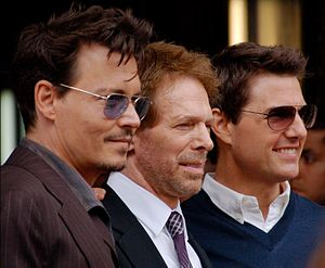 Jerry Bruckheimer - Bruckheimer with Johnny Depp and Tom Cruise in June 2013