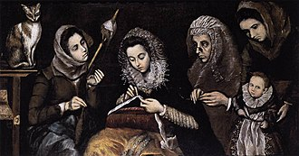 Jorge Manuel Theotocópuli - The Family of El Greco (c.1605)