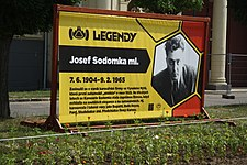 Josef Sodomka ml. Poster at Legendy 2018 in Prague.jpg