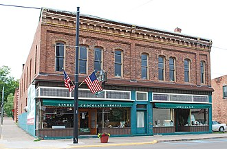 National Register of Historic Places listings in Houghton County, Michigan - Image: Joseph Bosch Building Lake Linden MI 2009