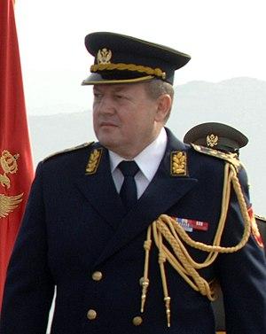 Chief of the General Staff (Montenegro) - Image: Jovan Lakčević (cropped)