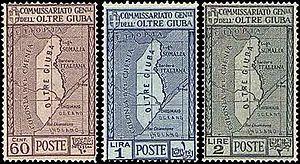 Jubaland - Trans-Juba postage stamps of 1926.