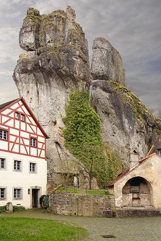 Franconian Switzerland - Tower karst rocks in Tüchersfeld, 2008
