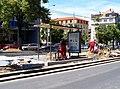 Jugoslávských partyzánů, rekonstrukce trati, zastávka Lotyšská, montáž přístřešku.jpg