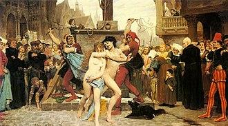 Online shaming - Image: Jules Arsène Garnier Le supplice des adultères
