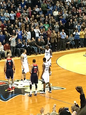 Minnesota Timberwolves - Kevin Garnett's first game back with the Timberwolves in 2015.