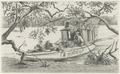 KITLV - 36C197 - Borret, Arnoldus - A boat waiting for the tide on the Saramacca river, Surinam - Pencil - Circa 1880.tif