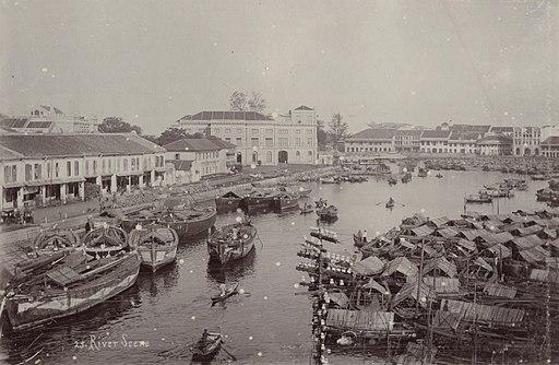 KITLV - 50215 - Lambert & Co., G.R. - Singapore - Port in Singapore - circa 1900