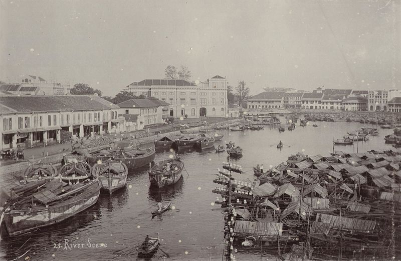 File:KITLV - 50215 - Lambert & Co., G.R. - Singapore - Port in Singapore - circa 1900.jpg