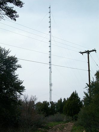 KKLV - The station's former radio tower, located atop Lake Mountain.